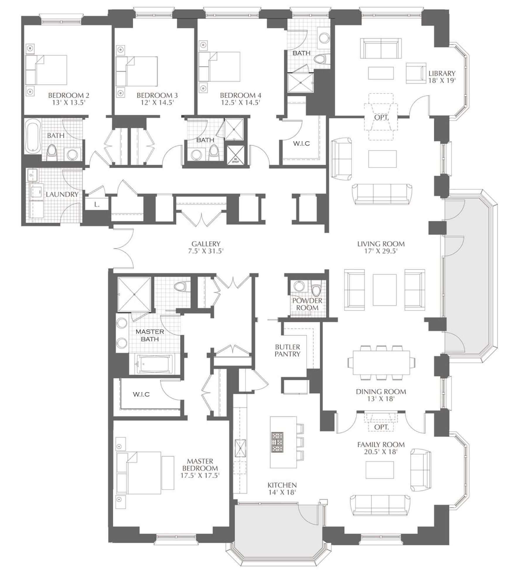 Chicago Luxury Realestate Condo Floor Plans Floor Plans House Floor Plans