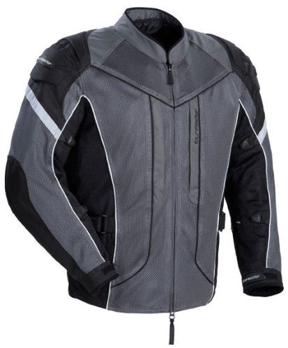 Best Buy Tourmaster Sonora Air Vented Motorcycle Jacket Gunmetal Silver Sml