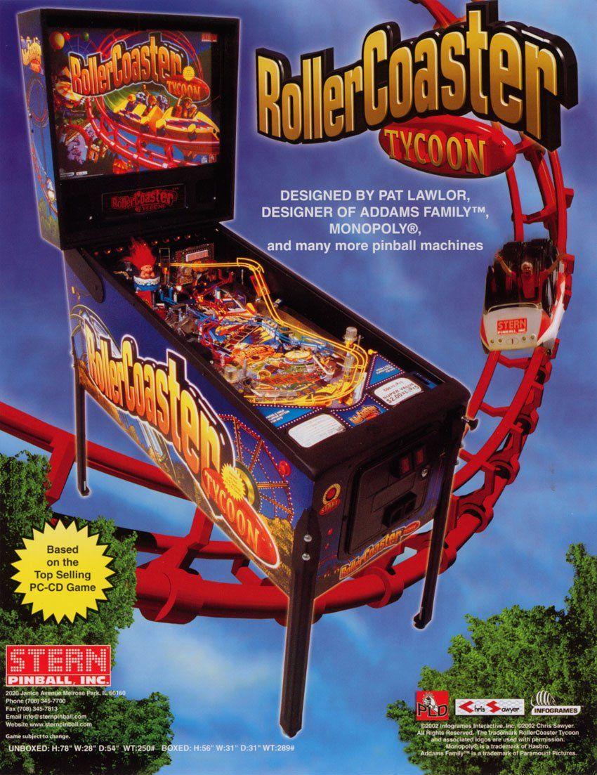 Roller Coaster Tycoon Pinball Arcades Games Pinterest Pinball
