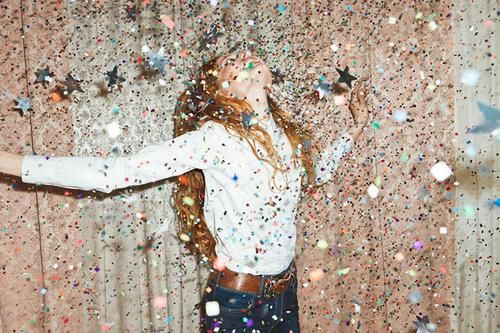 get covered in confetti #bandofun