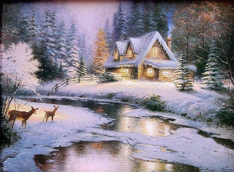 Deer Creek Cottage ~ Thomas Kinkade