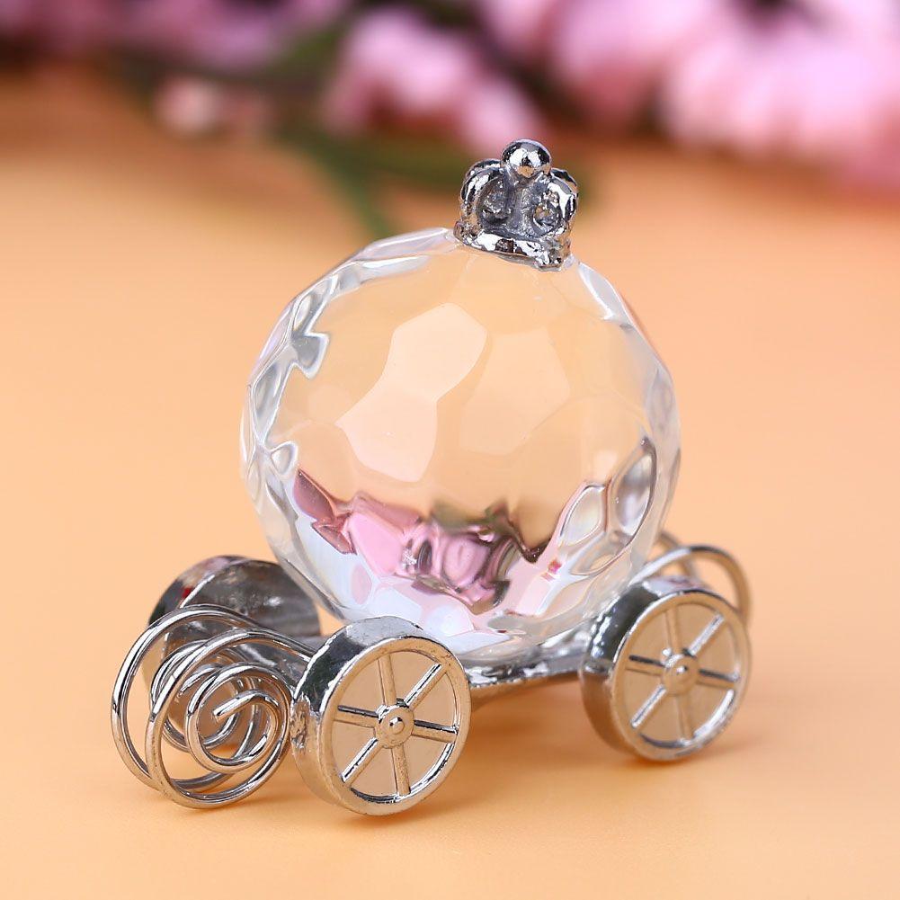 Wedding car decoration ideas  D Crystal Pumpkin Car Figurines Collectible Wedding Favors Gift