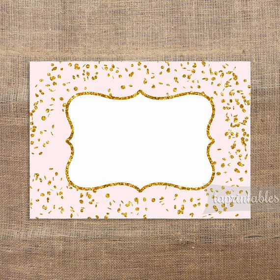 Pink Food Tent Cards Pink u0026 Gold Glitter Confetti Food Labels Blank Shower Place Cards Non Editable DIY Printable INSTANT DOWNLOAD  sc 1 st  Pinterest & Pink Food Tent Cards Pink u0026 Gold Glitter Confetti Food Labels ...