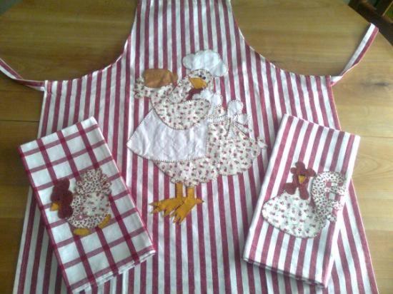 delantales y paños de cocina de patchwork algodón 100% hecho a mano ...