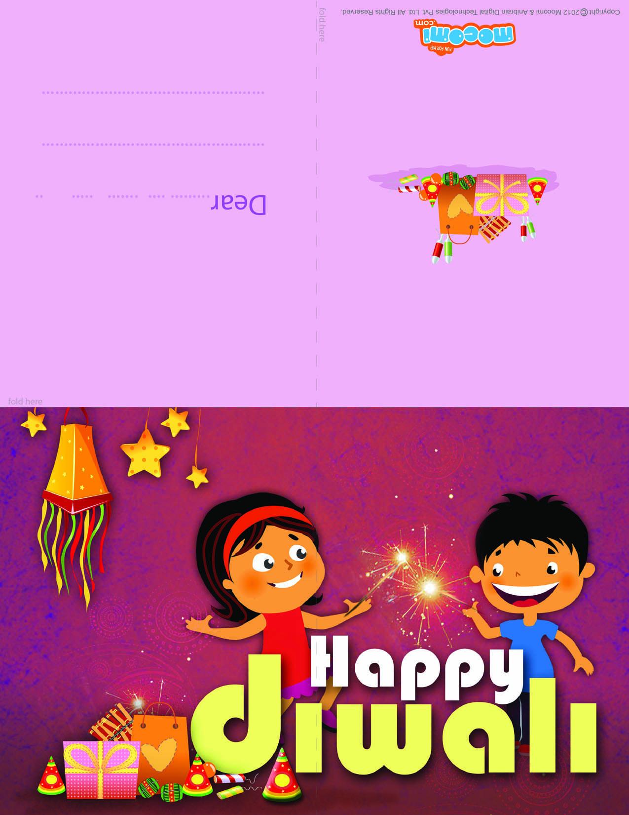 Happy Diwali Diwali Greeting Card For Kids Happy Diwali