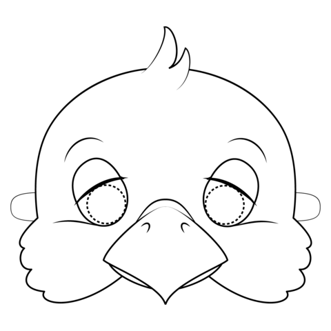 Dove Mask Coloring Page Coloring Mask Printable Coloring Masks Animal Mask Templates