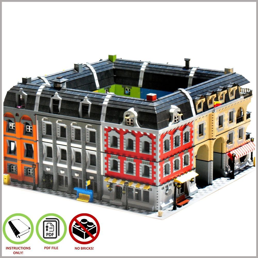 Lego Moc Huge Buildings Block Custom Model Pdf Instructions