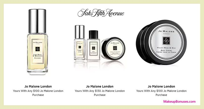 Receive A Free 5 Pc Gift With 130 Jo Malone Purchase Beauty