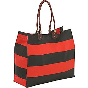 Earth Axxessories Stripes Tote Mint Chocolate Stripes