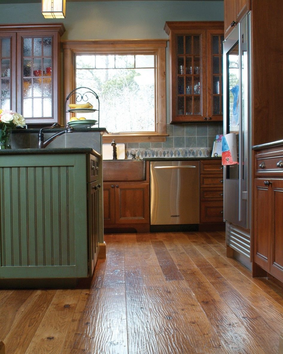 Laminate Stained Hickory Wood Combined Aged Green Painted Wooden -  hickory bedroom furniture