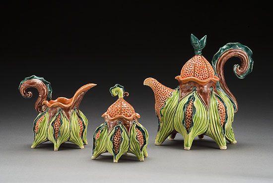 Jenny Lou Sherburne Sculptural Pottery