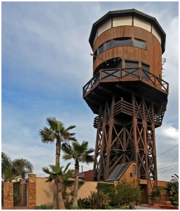 Water Tower Converted Into A House Seal Beach Ca Usa