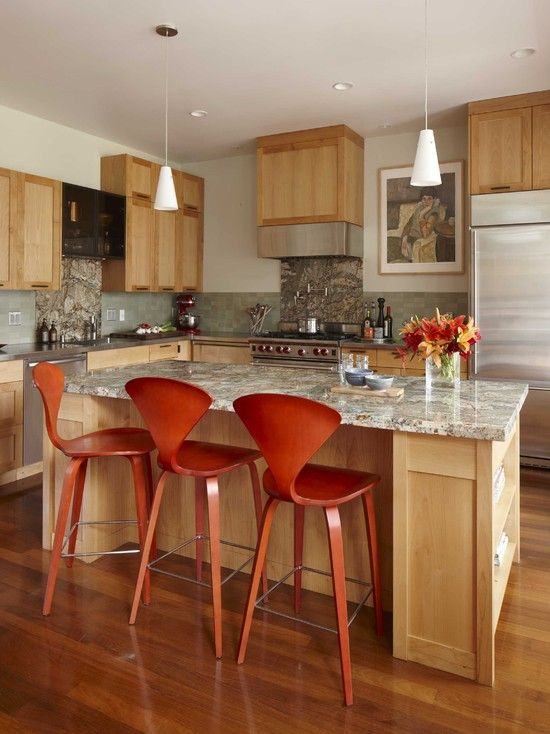 Blonde Cabinets Design Pictures Remodel Decor And Ideas