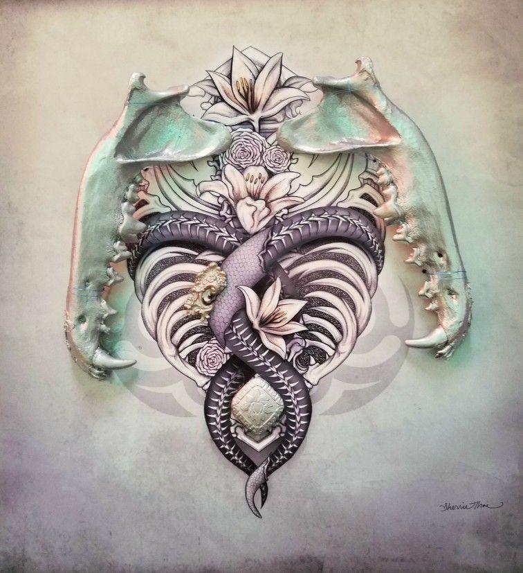 bone decor dark art by sherrie thai of shaire productions