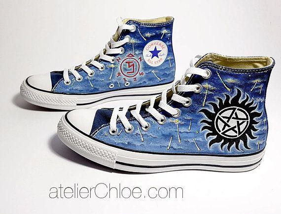 Custom Movies Shoes, Painted Converse, Custom Vans