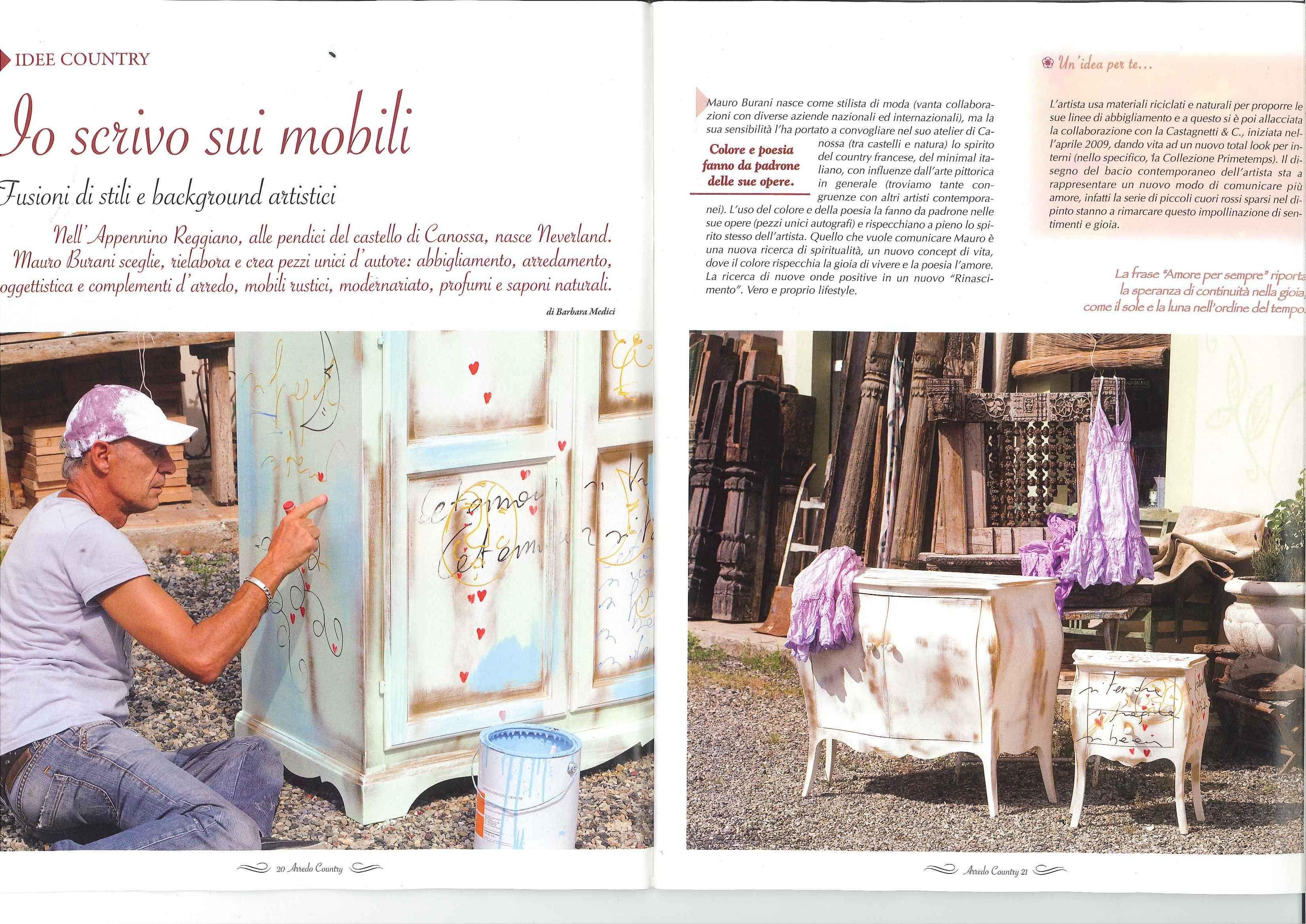 Mobili Castagnetti ~ Io scrivo sui mobili. decorazioni by mauro burani castagnetti