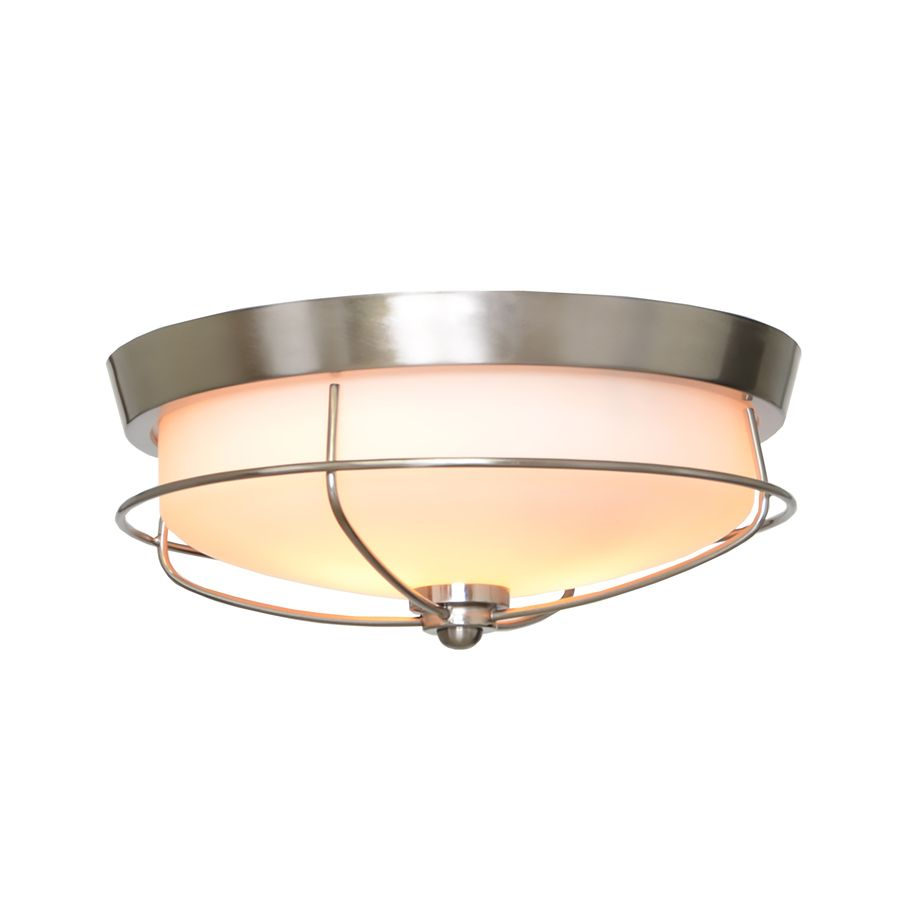 Portfolio Valdara 14 88 In W Brushed Nickel Ceiling Flush Mount