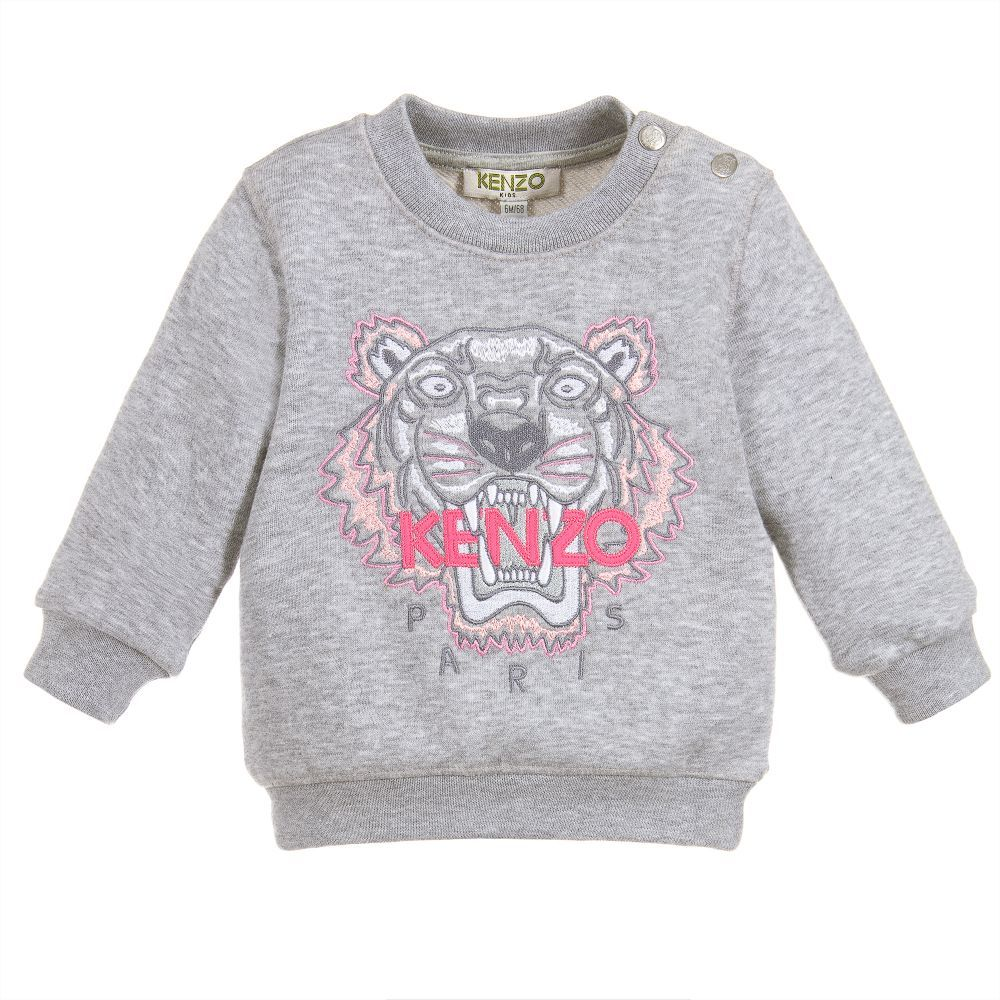 c6d30a6c Baby TIGER Cotton Sweater for Girl by Kenzo Kids. Discover more beautiful  designer Tops for kids online
