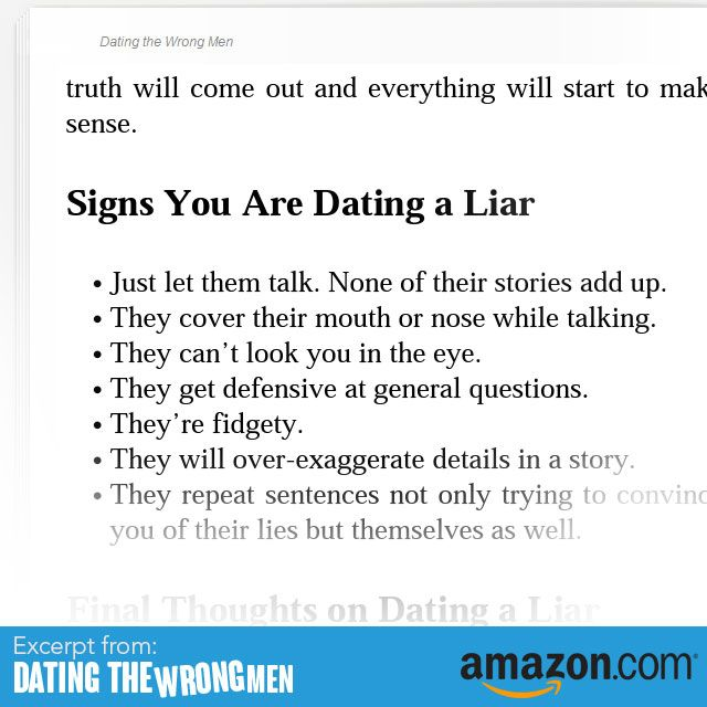 What to do when you re dating a liar
