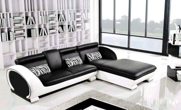 Divani angolari per la casa - Divano angolare bianco e nero ...