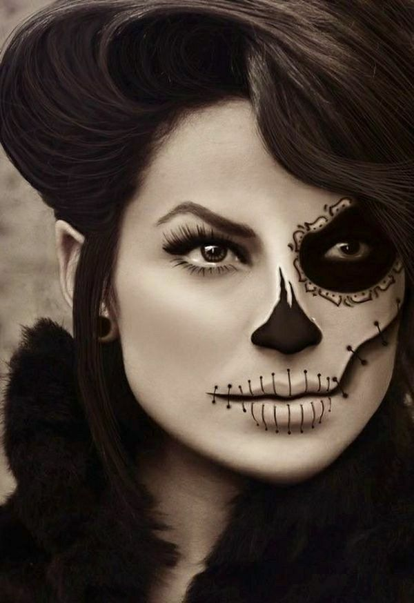 le tuto du maquillage de halloween artistique maquillage de halloween le maquillage et pour cr er. Black Bedroom Furniture Sets. Home Design Ideas