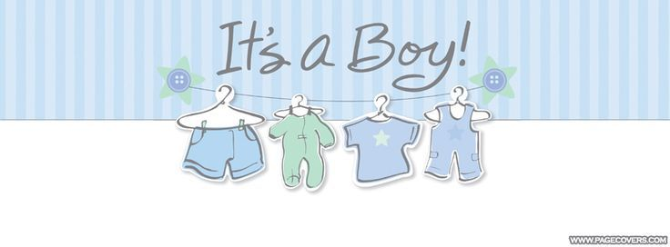 Its A Boy Blue Banner Pregnant Facebook Cover - ... | baby shower ...