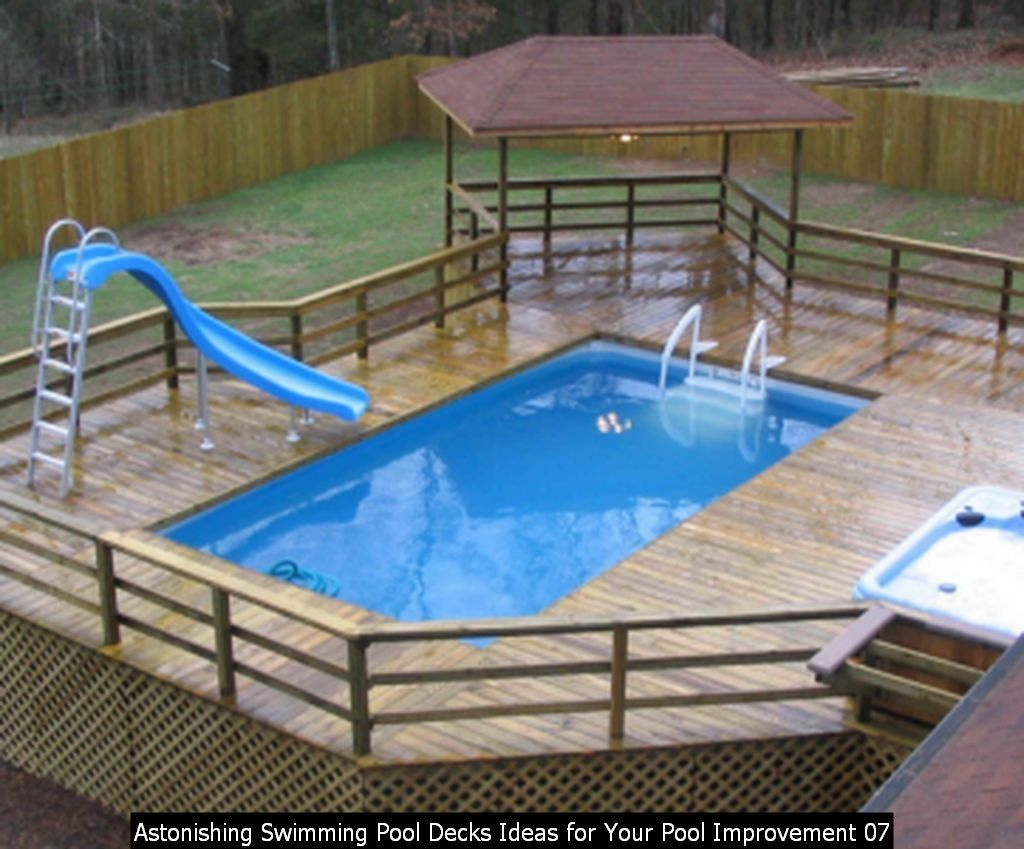45 Astonishing Swimming Pool Decks Ideas For Your Pool Improvement Best Above Ground Pool Above Ground Swimming Pools Backyard Pool