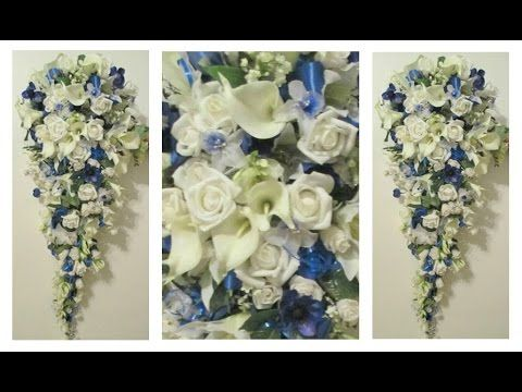 How To Make A Cascading Bridal Bouquet With Roses Orchids And