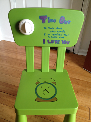 Diy Time Out Chair With Timer Time Out Chair Chair Kids Furniture