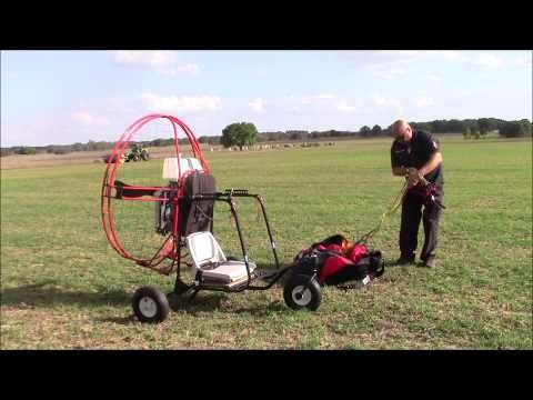 How to Launch a Powered Paraglider Trike Capt  Kurt Fister