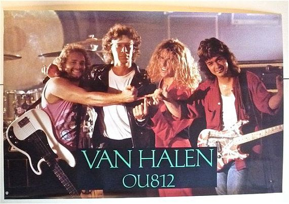 VAN HALEN * Promo Poster * OU812 * Vintage Original * 1988 * 35x23 ...