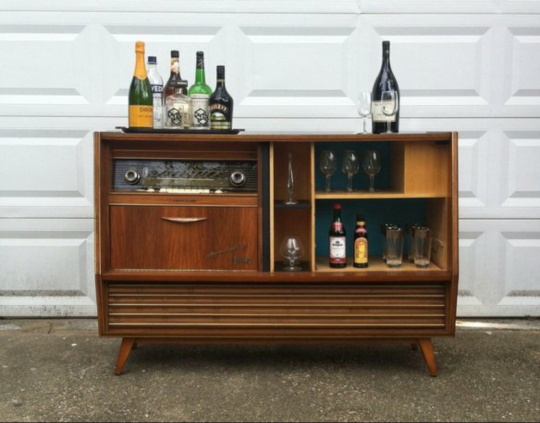 Mid Century Bars For Home Stereo Cabinet Diy Home Bar