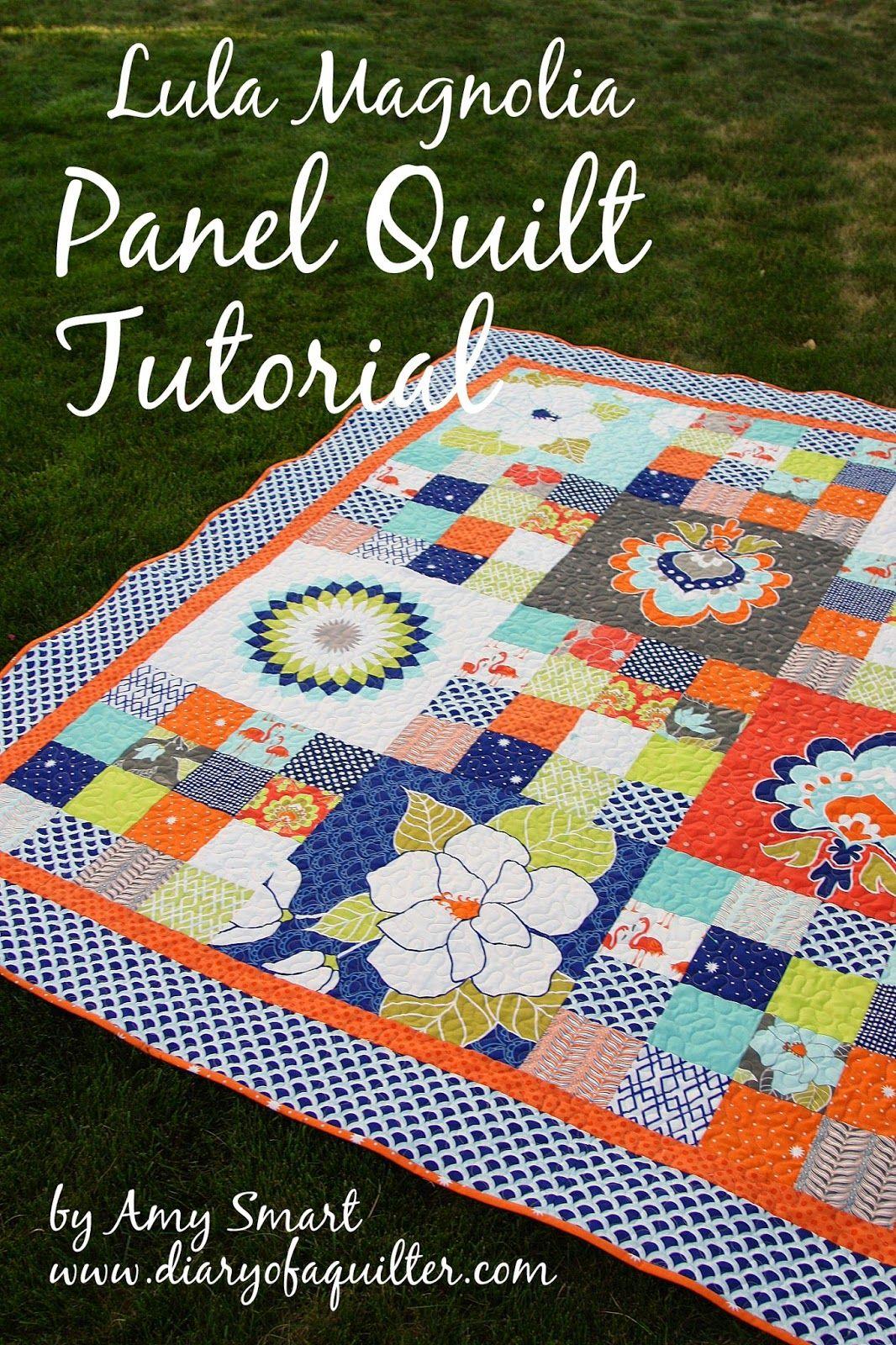 Riley Blake Designs Blog: Lula Magnolia Panel Quilt Tutorial #rileyblakedesigns #lulumagnolia #panel #quilt #tutorial #thequiltedfish