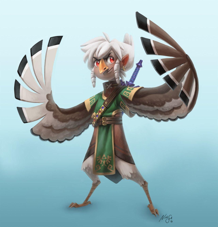 Character Design Challenge Zelda : Nattypants i designed link as if he were born into the