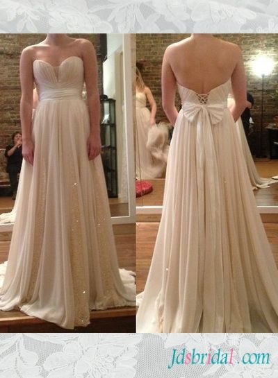 Prom Dresses Champagne Colored Glitter