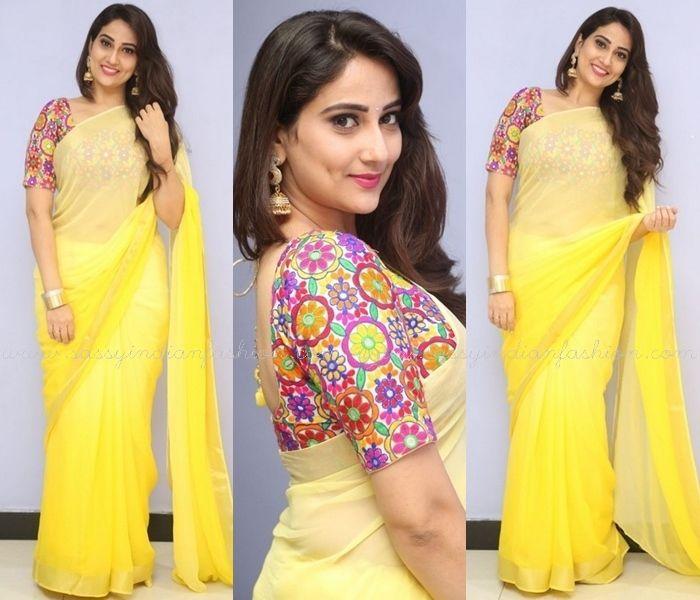 c6943480b3a Yellow Saree Blouse Ideas