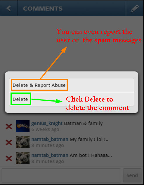 How To Comment And Delete Comments On Instagram Photos Instagram Instagram Photo Photo Apps