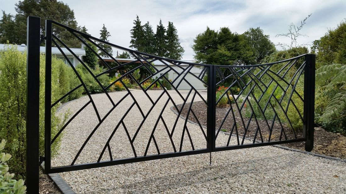 Adam Styles Creative Metal Custom Metal And Wrought Iron Gates And Fencing Nelson Nz Wrought Iron Gates Wrought Iron Gate Designs Metal Gates Design