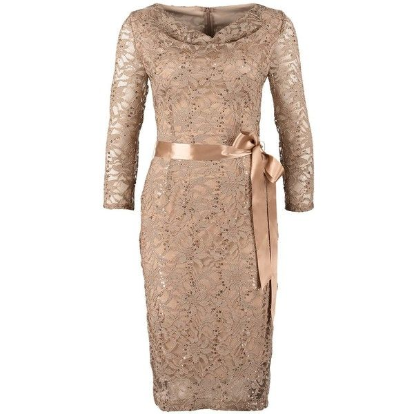 Young Couture By Barbara Schwarzer Cocktail Dress Party Dress Greige 150 Liked On Polyvore Featuring Dresses Beige Dresses Cocktail Dress Party Couture