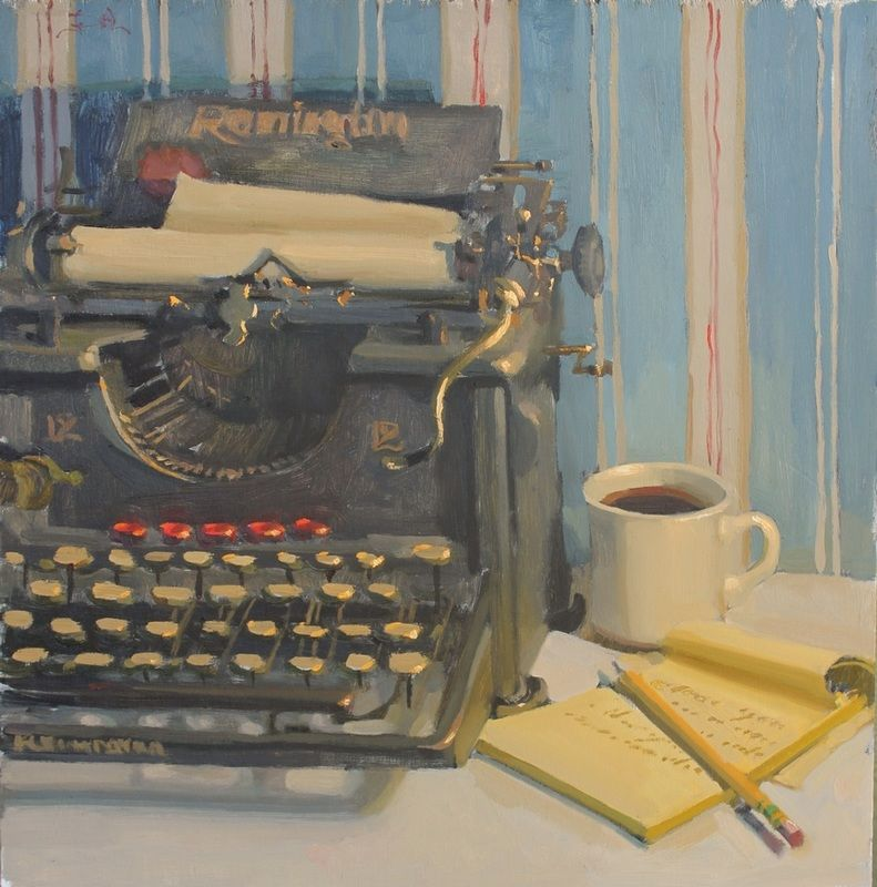 Paper Jam By Jennifer Diehl Painting Competition Still Life Typewriter Art