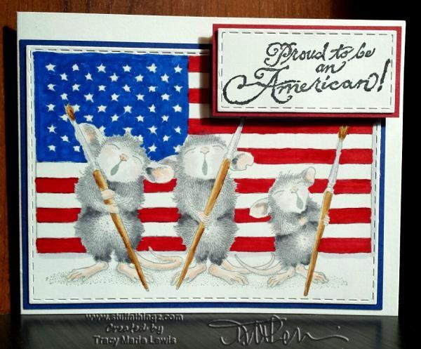 Patriotic Singing Mice Card | Drupal