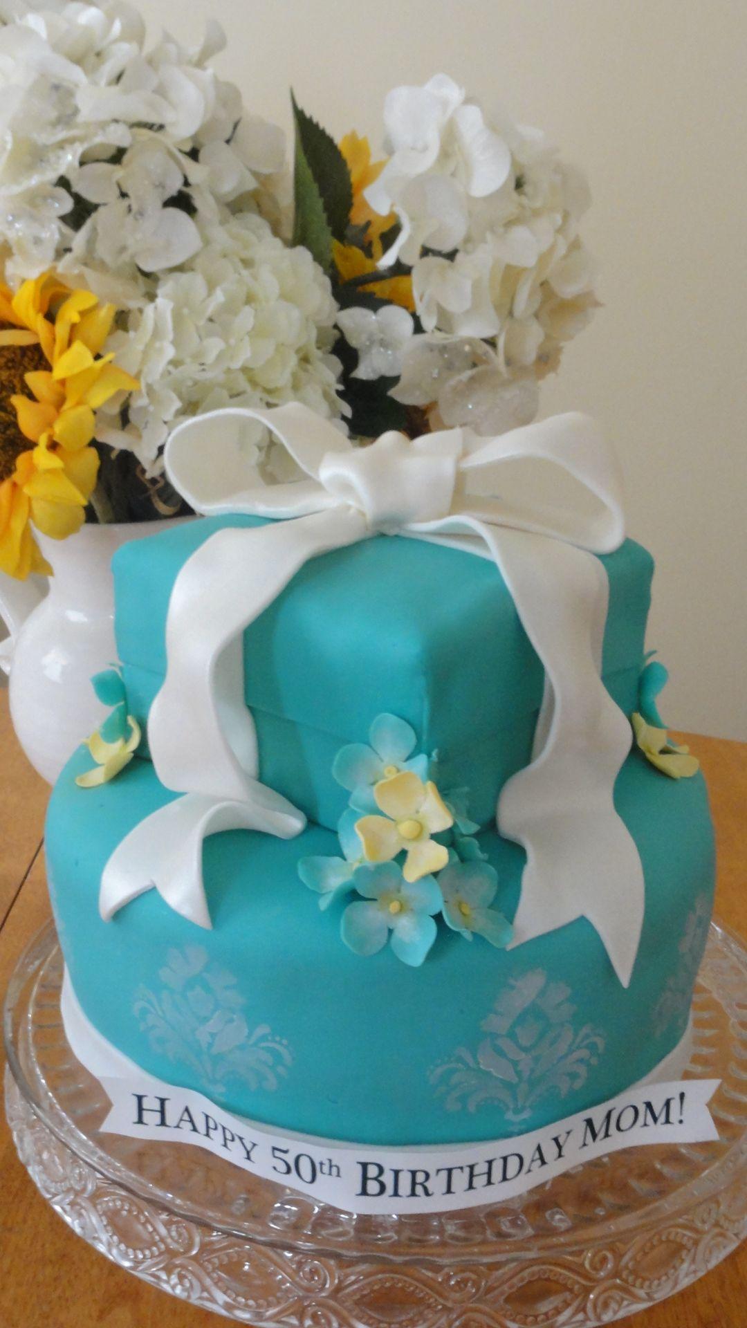 TIffany Birthday Cake for 50th Birthday Cakes Pinterest