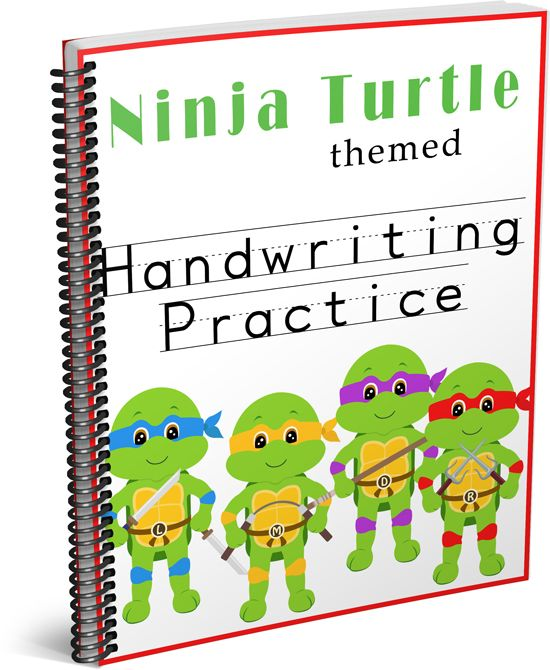 handwriting practice ninja turtle themed happy ninja turtles and little man. Black Bedroom Furniture Sets. Home Design Ideas