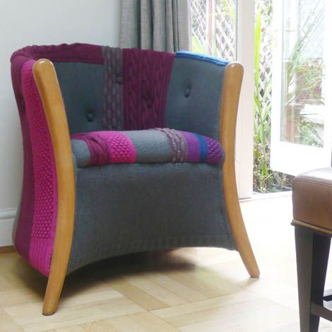 Modern Furniture Upholstery knitted furniture and decorative pillowsmelanie porter