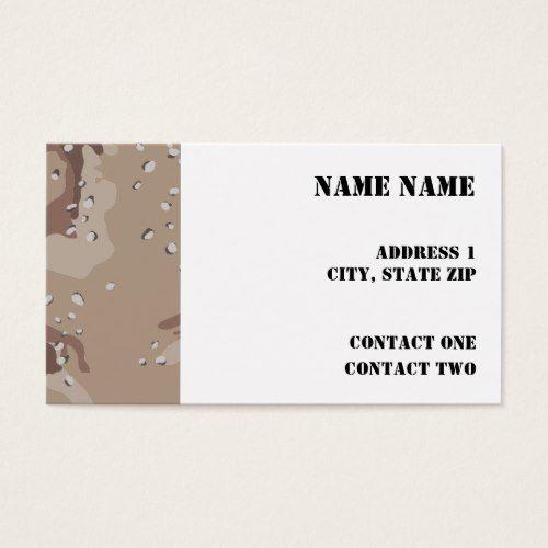 Desert camo business card desert camo desert camo business card colourmoves