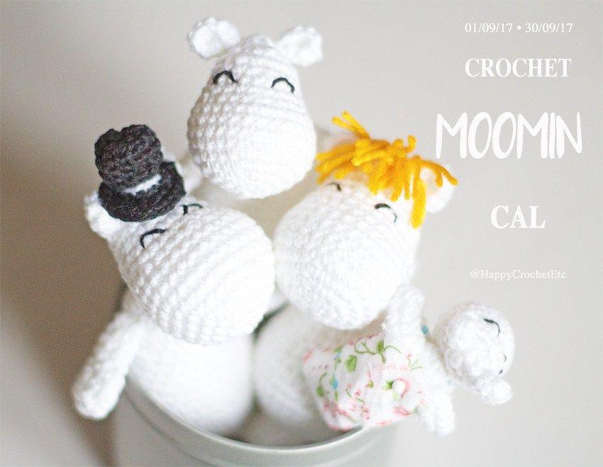 La famille Moomin au crochet • Crochet CAL • Crochet free pattern ...