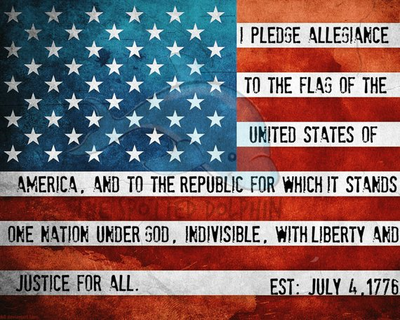 image relating to Printable American Flag named Pledge of Allegiance Printable - American Flag - Patriotic