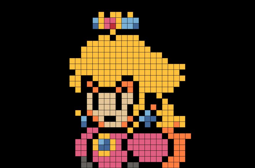 Princess Peach Pixel Art Pixel Art Art 8 Bit Art