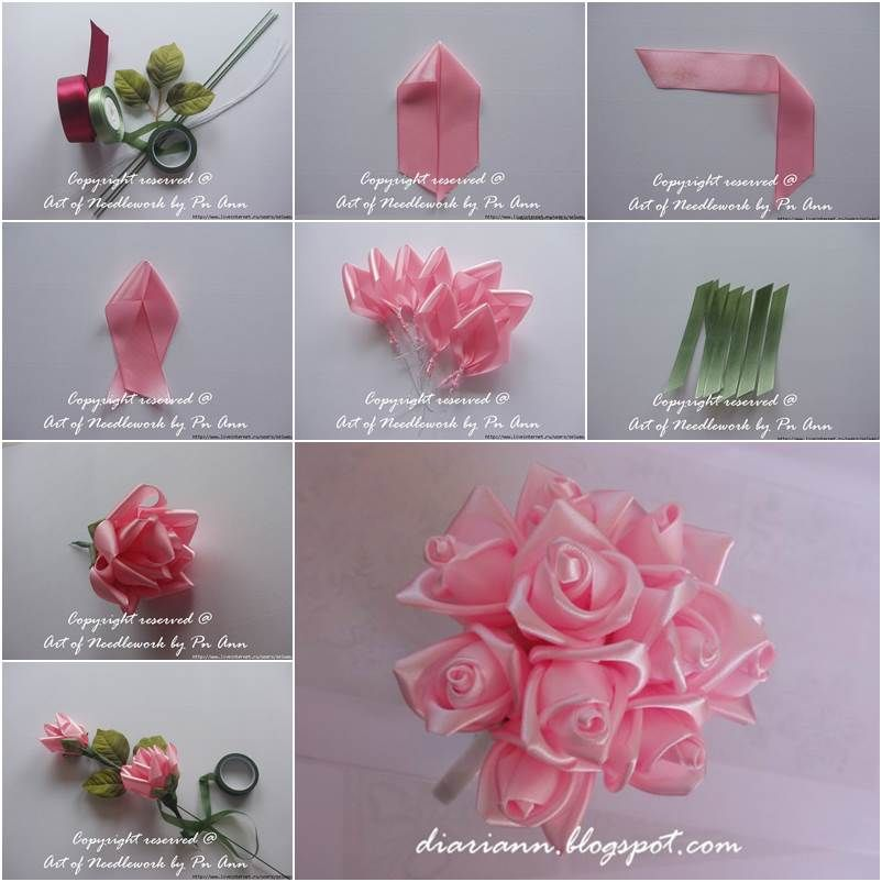 how to make ribbon roses with wired ribbon