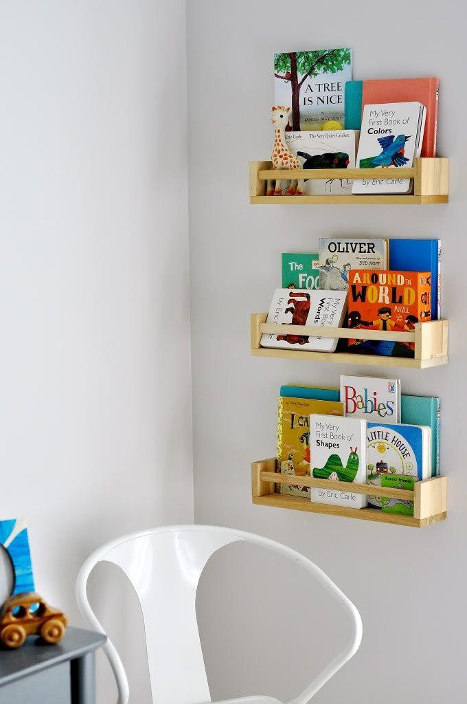 diy estanter a para cuentos y libros con el especiero de On estanterias infantiles ikea